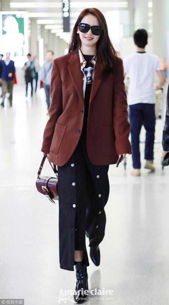 冬天想要穿出大长腿 学宋茜和戚薇阔腿裤配踝靴