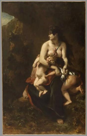 欧仁·德拉克洛瓦,《要谋杀自己孩子的Medea》(Medea About to Murder Her Children, 1838)