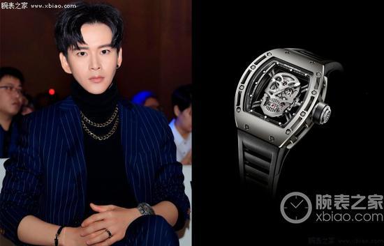 黃宥明佩戴理查德米爾男士系列RM 052腕錶