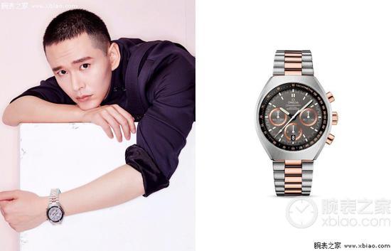 黃宥明佩戴歐米茄超霸系列MARK II腕錶