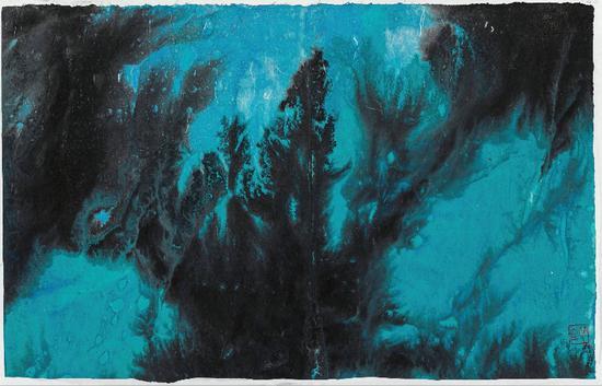 《大美自然系列-47》,88×55cm ,纸本彩墨,2020