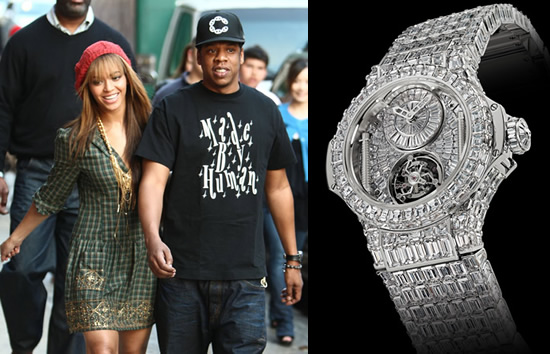 Beyoncé支给老公Jay-Z的死日礼品定制款宇舶Big Bang钻石陀飞轮,价格300万好圆