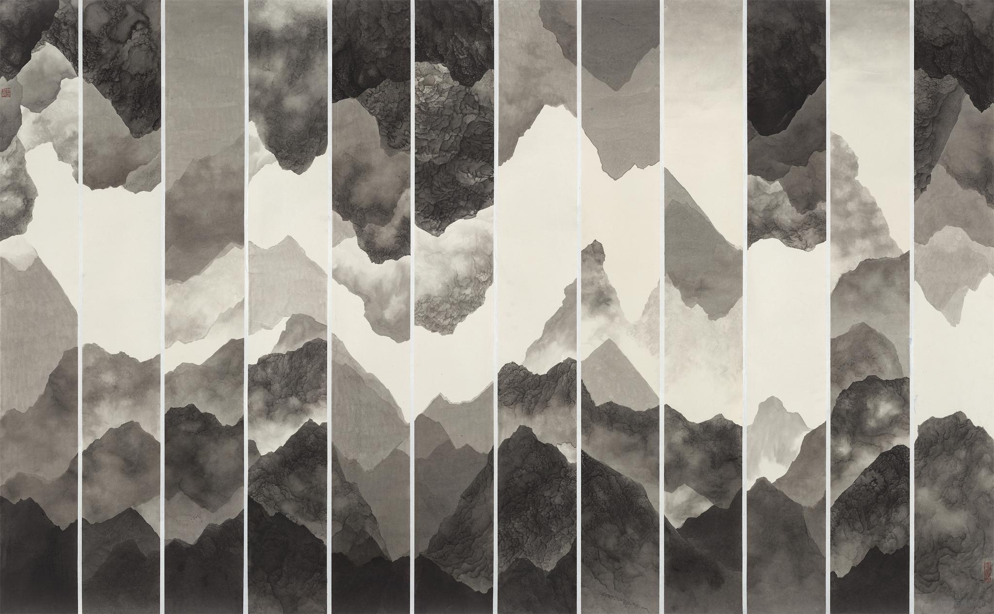 周名德-此山中11·206X132纸本水墨2020