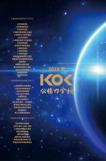 KOL公信力金榜2018年第一期榜单揭晓 酒店传播沙龙于长沙梅溪湖举办
