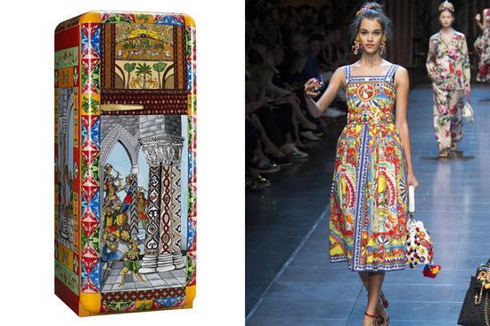 Dolce & Gabbana X Smeg 2016年联名款冰箱