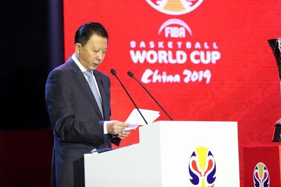 2019年国际篮联篮球世界杯北京赛区组委会常务执行主席、国家体育总局副局长李颖川先生致辞