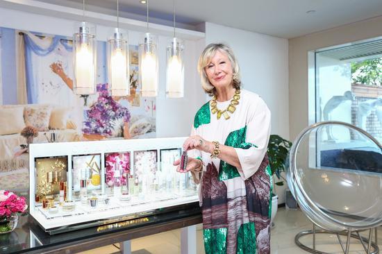 香缇卡品牌创始人Sylvie Chantecaille夫人亲临现场