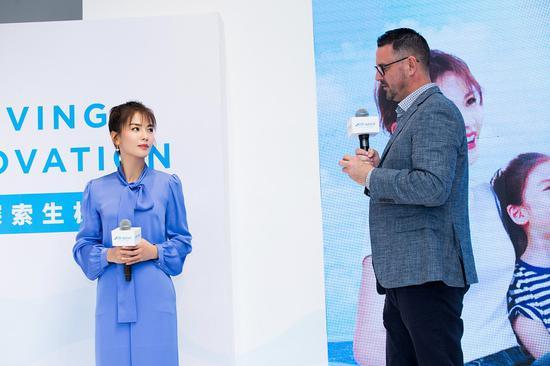 刘涛与Craig分享健康的生活方式