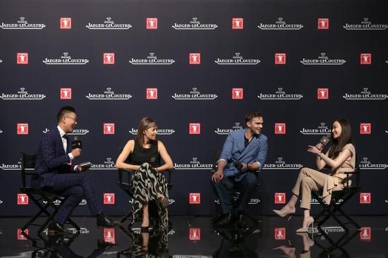 积家全球首席执行官Catherine Rénier女士、积家大使倪妮和英国著名演员尼古拉斯?霍尔特(Nicholas Hoult)就制表艺术与电影修复艺术展开精彩讨论