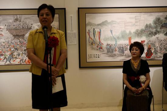 中国驻日大使馆文化参赞石永菁