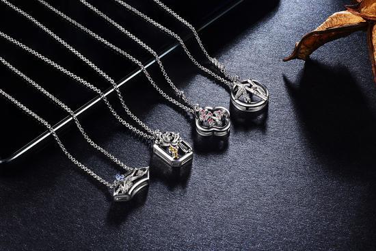 颐和园四君子系列锁骨链