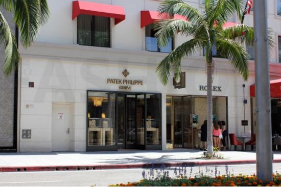 Patek Philippe 百达翡丽和Rolex 劳力士设于美国洛杉矶罗迪欧大道的精品店