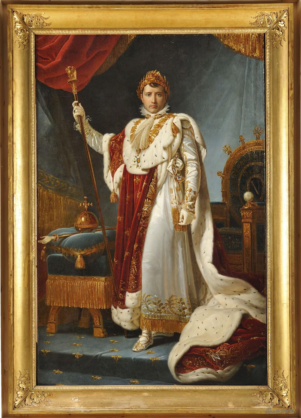 拿破仑一世身着加冕服装的肖像 弗朗索瓦·杰拉德 (1770-1837)布面油画 251 × 176 cm 1810 图片:黄盒子美术馆