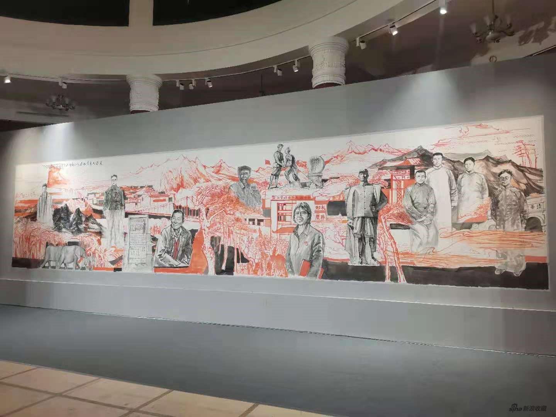 《走进大美滇西•探寻红色印迹》巨幅画作