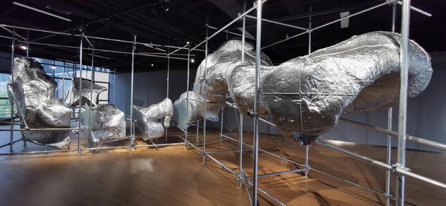 云中花园-折枝2 光敏树脂3D打印、钢架结构 L900x400x400cm 2009-2019