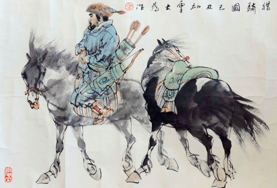 刘大为作品《猎骑图》