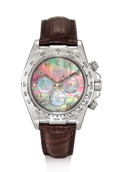 劳力士型号16516铂金自动上链迪通拿腕表