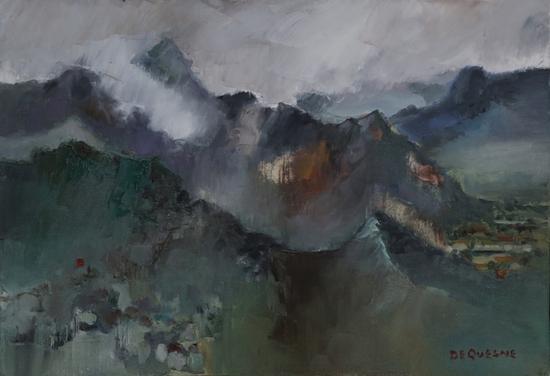 《复兴的早晨》布面油画 45x65cm 2018年