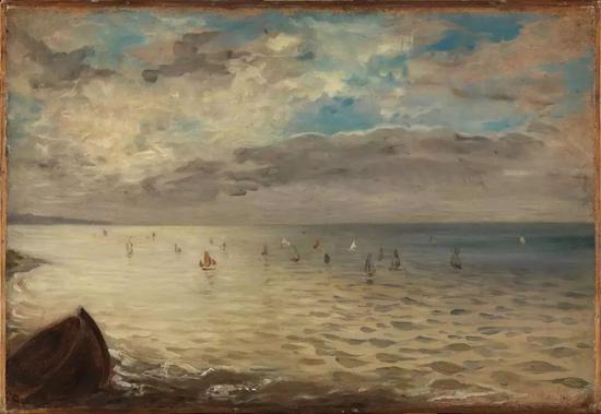 欧仁·德拉克洛瓦,《Dieppe高地边的海》(The Sea from the Heights of Dieppe, 约1852)