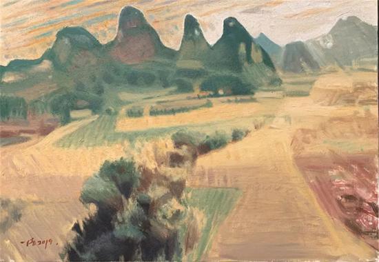 周一清 南京艺术学院美术学院油画系教授,北部湾的秋天 56×80cm 布面油画 2019