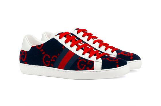 Gucci 双 G 标识绒面 Ace 运动鞋