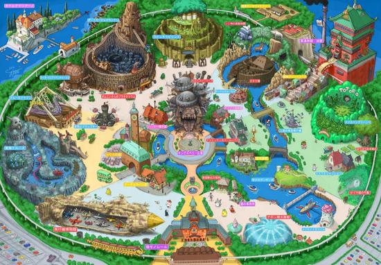吉卜力主题公园设计图