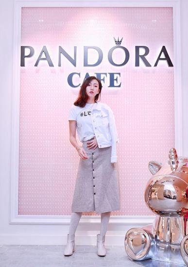 人气美妆博主Miss 沐夏出席Pandora Café 开业活动