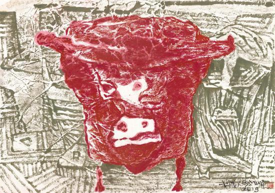 牛的故事 大泽人 49x69.5cm 2019年12323