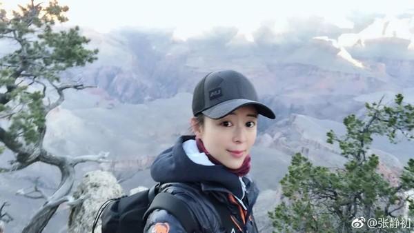 张静初旅游照