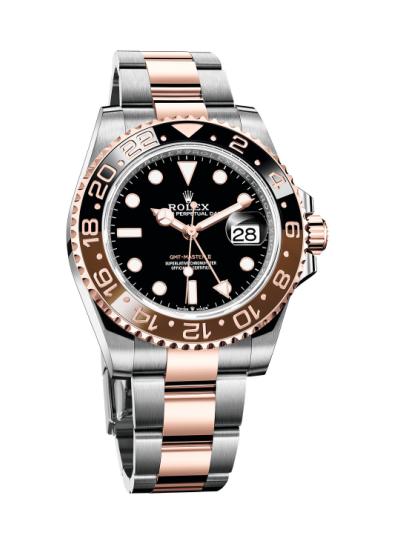2018年新推的劳力士格林尼治型II 永恒玫瑰金钢腕表