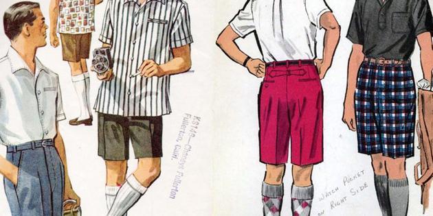 男士的百慕大短裤