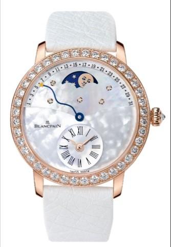 宝珀Blancpain女装系列日期指示月相腕表