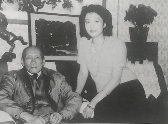 1986年傅益瑶拜会林风眠,摄于宋之光 (原驻日大使)东京寓所