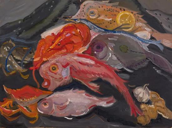段威《墨尔本鱼市之一》61x41.5cm2015年