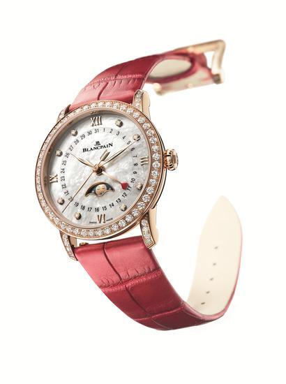 宝珀Blancpain月亮美人日期指示情人节限量版腕表