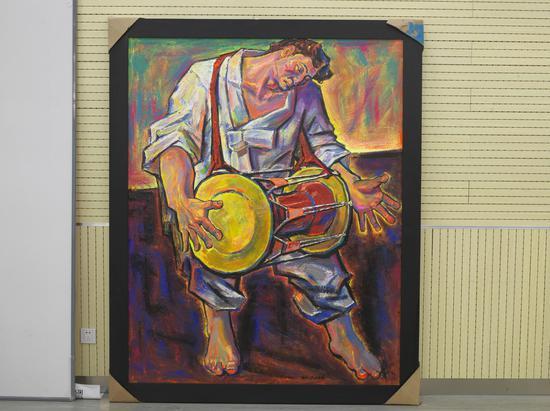 李贵男《阿里郎》190cm x 150cm 油画 2019年