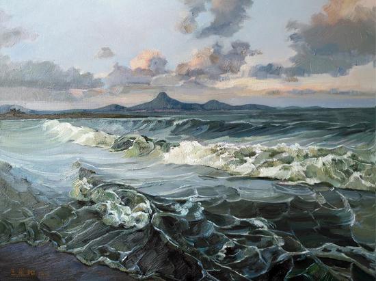 海那边是家乡 60×80cm