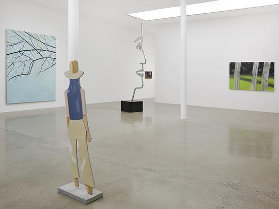 Installation view, 'Alex Katz', 10.3– 11.18, 2017 ?Alex Katz/DACS, London/VAGA, New York。 Courtesy Timothy Taylor, London/New York