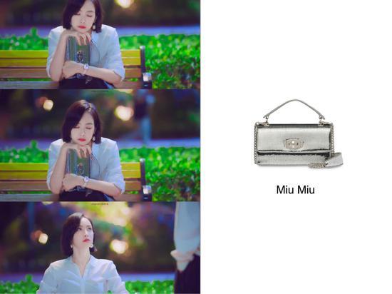 宋茜的银色手袋