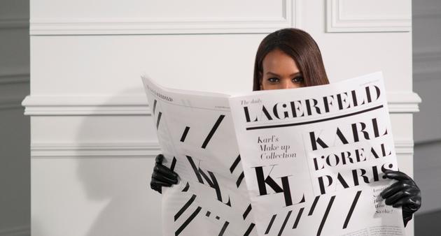 巴黎欧莱雅与 KARL LAGERFELD 携手推出 设计师联名限量彩妆系列