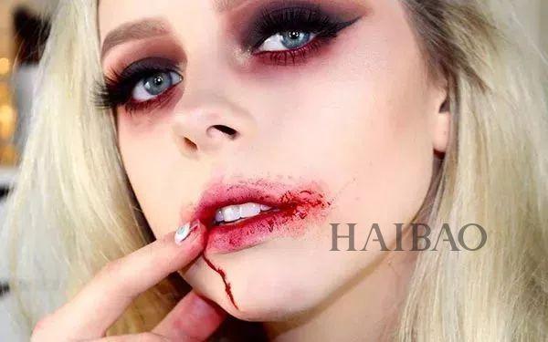 逆天万圣节吸血鬼妆容图片