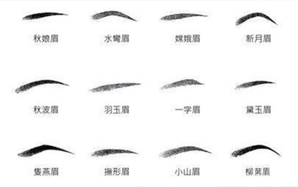 古代的12种眉形
