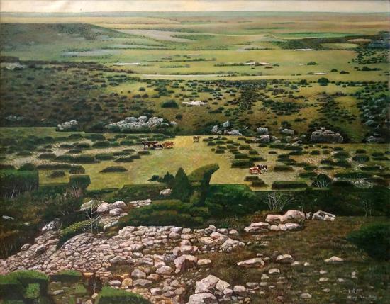 高原春100×80cm 亚麻油彩 1994年