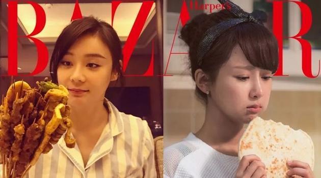 """食量小花杨紫,""""马假线""""袁姗姗,猛吃却还96斤?"""