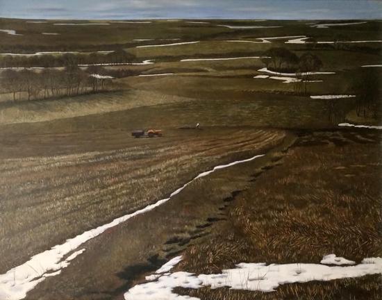 春雪 80×100cm 亚麻油彩 1994年