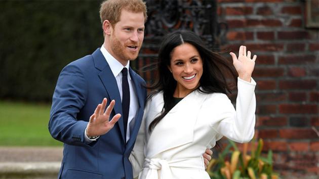 哈利王子和准王妃梅根-马克尔