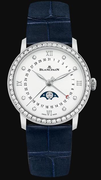 宝珀Blancpain全新Villeret经典系列女装月相日历腕表