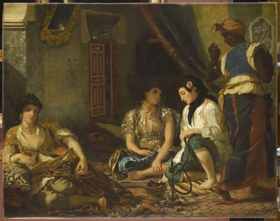 欧仁·德拉克洛瓦,《在公寓里的阿尔及尔女人》(Women of Algiers in Their Apartment, 1833- 1834)