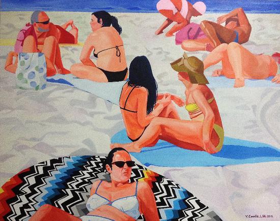 刘颖,生命的喜悦之一,布面油画,150×120cm
