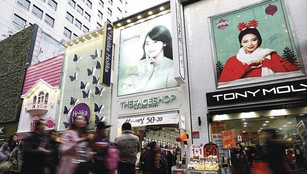 韩妆在中国没过气 只是消费者只爱买高端品牌了